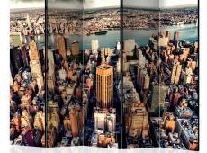 Paraván - Bird's Eye View of New York II [Room Dividers]
